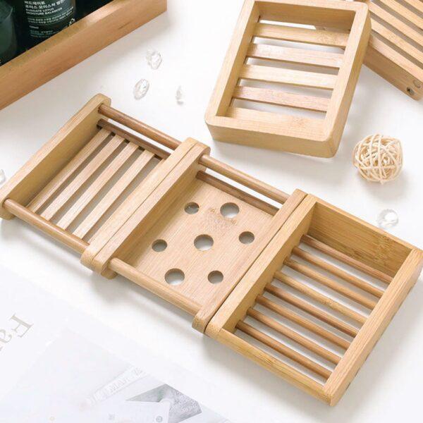 Jaboneras de bambú